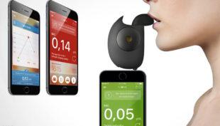 Floome, il dispositivo innovativo e di design che misura il valore di alcol  contenuto nel sangue.